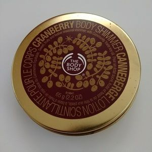 The Body Shop Cranberry Body Shimmer 2.2 Oz Tin